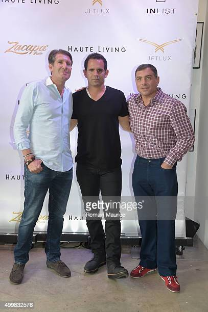 Michael Capponi Eduardo Serio and Antonio Misuraca attend Haute Living Adrien Brody Cover Release Party with Jet Lux InList and Zacapa at Lulu...
