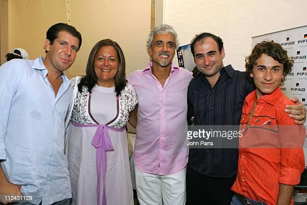 Michael Capponi, Fern Mallis, Ric Pipino, Amir Slama, designer and Esteban Cortazar backstage at Sais by Rosa Cha