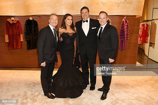 Michael Caprio Vanessa Williams Jim Skrip and Randy Slovacek attend the Nevada Ballet Theatre's 2017 Woman of the Year award at the Aria Resort...