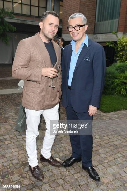 Michael Carl and Giorgio Guidotti attend Max Mara Resort Show 2019 at Collezione Maramotti on June 4 2018 in Reggio nell'Emilia Italy