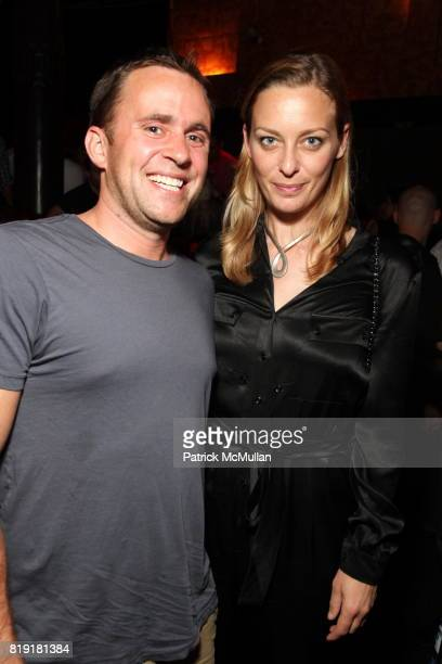Michael Carl and Jessica Diehl attend PRADA 'Swing' Sunglasses Launch Event at Joe's Pub on July 14 2010 in New York City