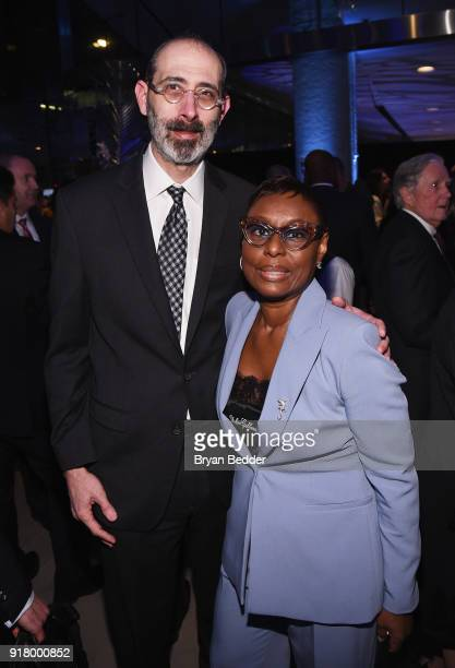 Michael Carren and Shae Carren attends the Winter Gala at Lincoln Center at Alice Tully Hall on February 13 2018 in New York City