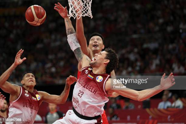 Michael Carrera of the Venezuela National Team in action against the China National Team during the Venezuela v China Group A match in the 1st round...