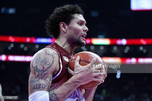 Michael Carrera of the Venezuela National Team reacts during the match against the Russia National Team during the 2nd round of 2019 FIBA World Cup...