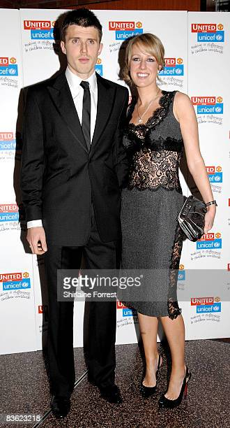 Michael Carrick and wife Lisa Roughead attend the Manchester United `United for UNICEF' Gala Dinner at Manchester United Museum on November 9 2008 in...
