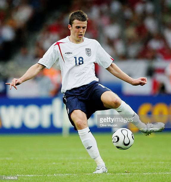 Michael Carrick of England in action during the FIFA World Cup Germany 2006 Round of 16 match between England and Ecuador played at the...