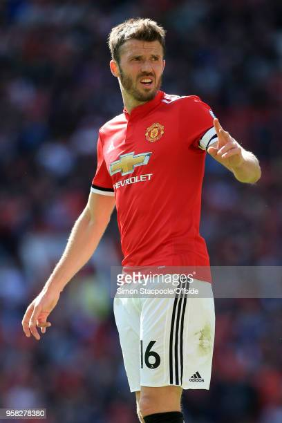 Michael Carrick of Man Utd looks on during the Premier League match between Manchester United and Watford at Old Trafford on May 13 2018 in...