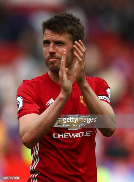 Michael Carrick of Manchester United during the Premier League match between Manchester United and Crystal Palace at Old Trafford on May 21 2017 in...