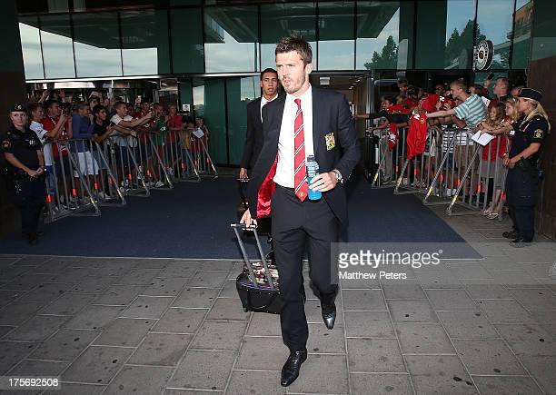 Michael Carrick of Manchester United leaves the team hotel ahead of the preseason friendly match between AIK Fotboll and Manchester United at Friends...