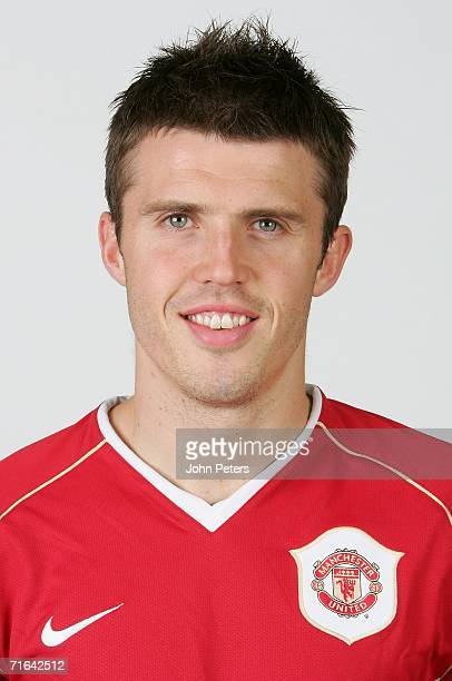 Michael Carrick of Manchester United poses during an official photocall at Carrington Training Ground on August 10 2006 in Manchester England