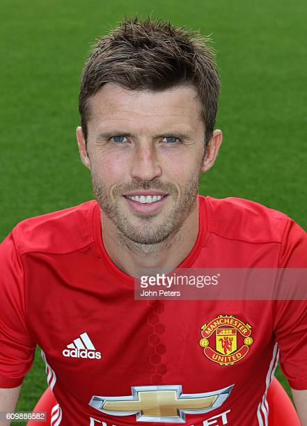 Michael Carrick of Manchester United poses for a portrait at the Manchester United Official Photocall on September 19 2016 in Manchester England