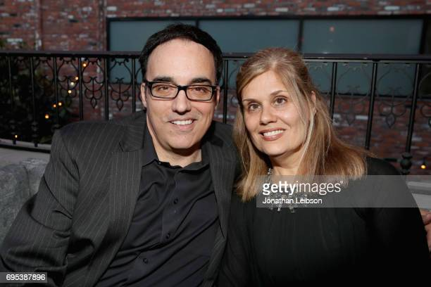 Michael Carter and guest VP COO of Southwestern Law School Chief Advisor of Golden Globe Awards attends DuJour's Summer Issue Cover Party with Lily...