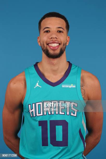Michael CarterWilliams of the Charlotte Hornets poses for a head shot in Charlotte North Carolina at the Spectrum Center on January 16 2018 NOTE TO...