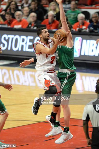 Michael CarterWilliams of the Chicago Bulls drives to the basket against the Boston Celtics in Game Six of the Eastern Conference Quarterfinals of...
