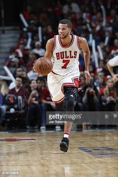 Michael CarterWilliams of the Chicago Bulls handles the ball against the Indiana Pacers on October 29 2016 at the United Center in Chicago Illinois...