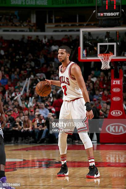 Michael CarterWilliams of the Chicago Bulls handles the ball against the Sacramento Kings on January 21 2017 at the United Center in Chicago Illinois...