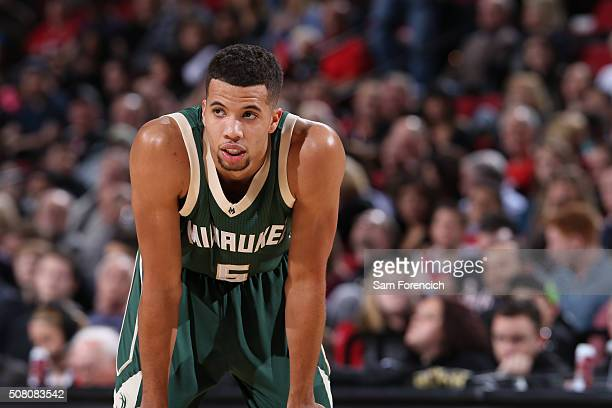 Michael CarterWilliams of the Milwaukee Bucks during the game against the Portland Trail Blazers on February 2 2016 at Moda Center in PortlandOregon...