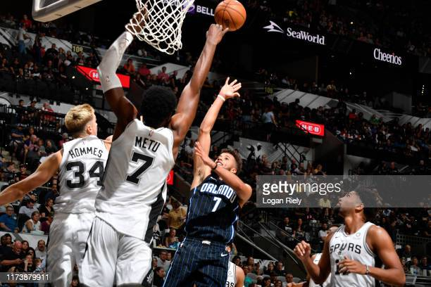 Michael CarterWilliams of the Orlando Magic shoots the ball against the San Antonio Spurs during the preseason on October 5 2019 at the ATT Center in...