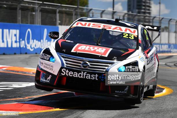 Michael Caruso drives the Nissan Motorsport Nissan Altima during qualifying for race 22 for the Gold Coast 600 which is part of the Supercars...