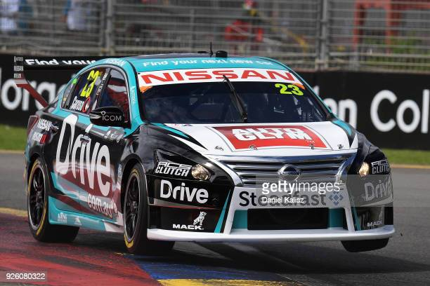 Michael Caruso drives the Nissan Motorsport Nissan Altima during qualifying for Supercars Adelaide 500 on March 2 2018 in Adelaide Australia
