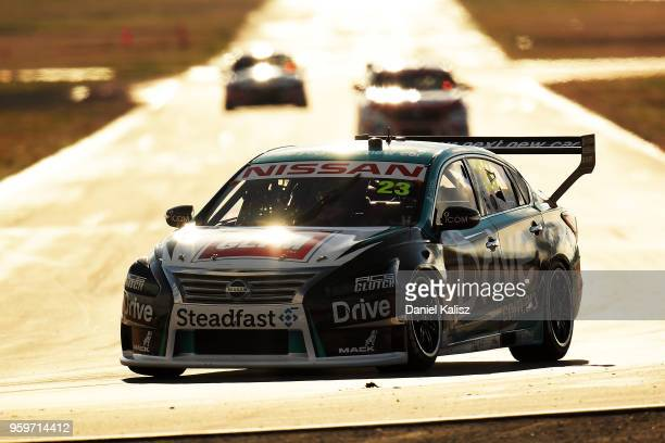 Michael Caruso drives the Nissan Motorsport Nissan Altima during practice for the Supercars Winton SuperSprint on May 18 2018 in Melbourne Australia