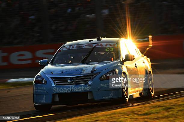 Michael Caruso drives the Nissan Motorsport Nissan Altima during race 2 for the Townsville 400 at Reid Park on July 10 2016 in Townsville Australia