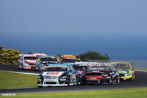 Michael Caruso drives the Nissan Motorsport Nissan Altima during race 10 for the Supercars Phillip Island 500 at Phillip Island Grand Prix Circuit on...