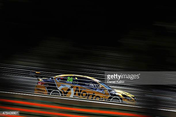 Michael Caruso drives the Norton Hornets Nissan during practice for the Clipsal 500 which is round one of the V8 Supercar Championship Series at the...