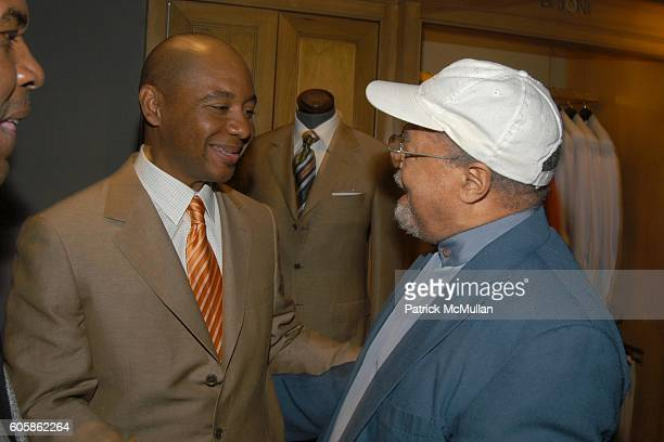 Michael Carvin Branford Marsalis and Jimmy Cobb attend BERGDORF GOODMAN and BRIONI Launch Party for Marsalis Music Honors Series at Bergdorf Goodman...