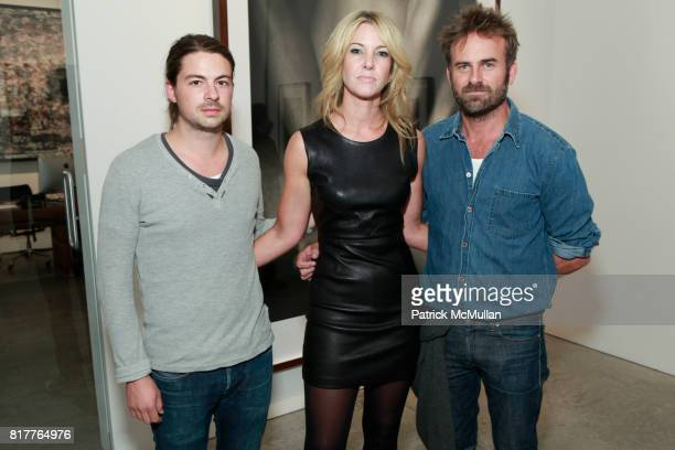 Michael Casker Sarah Hasted and Jeff Bart attend ALBERT WATSON Artist Reception at Hasted Kraeutler Gallery on October 21 2010 in New York City