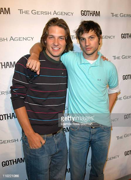 Michael Cassidy and Logan MarshallGreen during The Gersh Agency and Gotham Magazine Celebrate 2005 New York UpFronts at Bed in New York City New York...