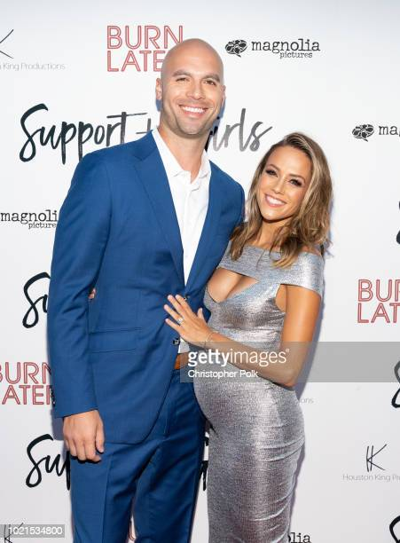 """Michael Caussin and Jana Kramer arrive to the premiere of Magnolia Pictures' """"Support The Girls"""" at the ArcLight Hollywood on August 22, 2018 in..."""