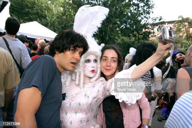 Michael Cavadias, Marie and Jane Adams during Wigstock Festival 2005 at Tompkins Square Park in New York City, New York, United States.
