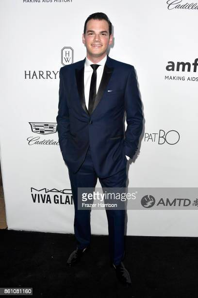 Michael Cavallaro attends the amfAR Gala at Ron Burkle's Green Acres Estate on October 13 2017 in Beverly Hills California