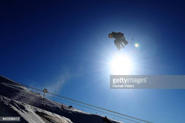 Michael Ceccarelli of Canada competes during Winter Games NZ FIS Men's Snowboard World Cup Slopestyle Finals at Cardrona Alpine Resort on September 4...