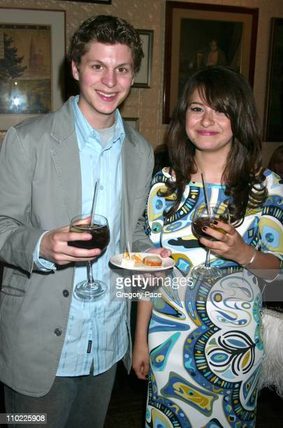 Michael Cera and Alia Shawkat during 2005/2006 FOX Prime Time UpFront Inside Green Room and Party at Seppi's Restaurant and Central Park Boathouse in...