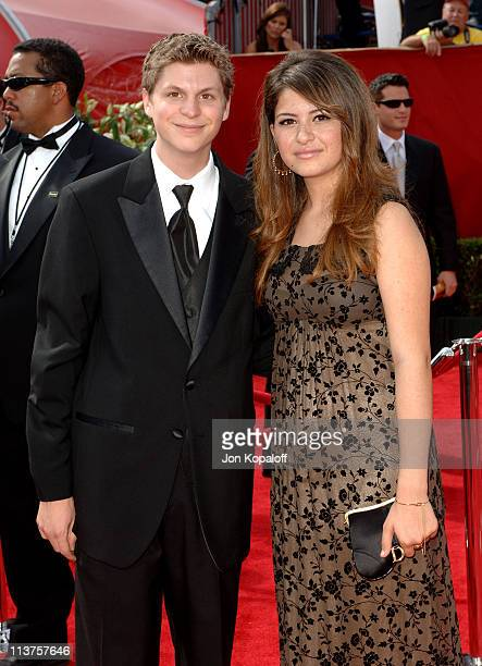 Michael Cera and Alia Shawkat during 57th Annual Primetime Emmy Awards Arrivals at The Shrine in Los Angeles California United States