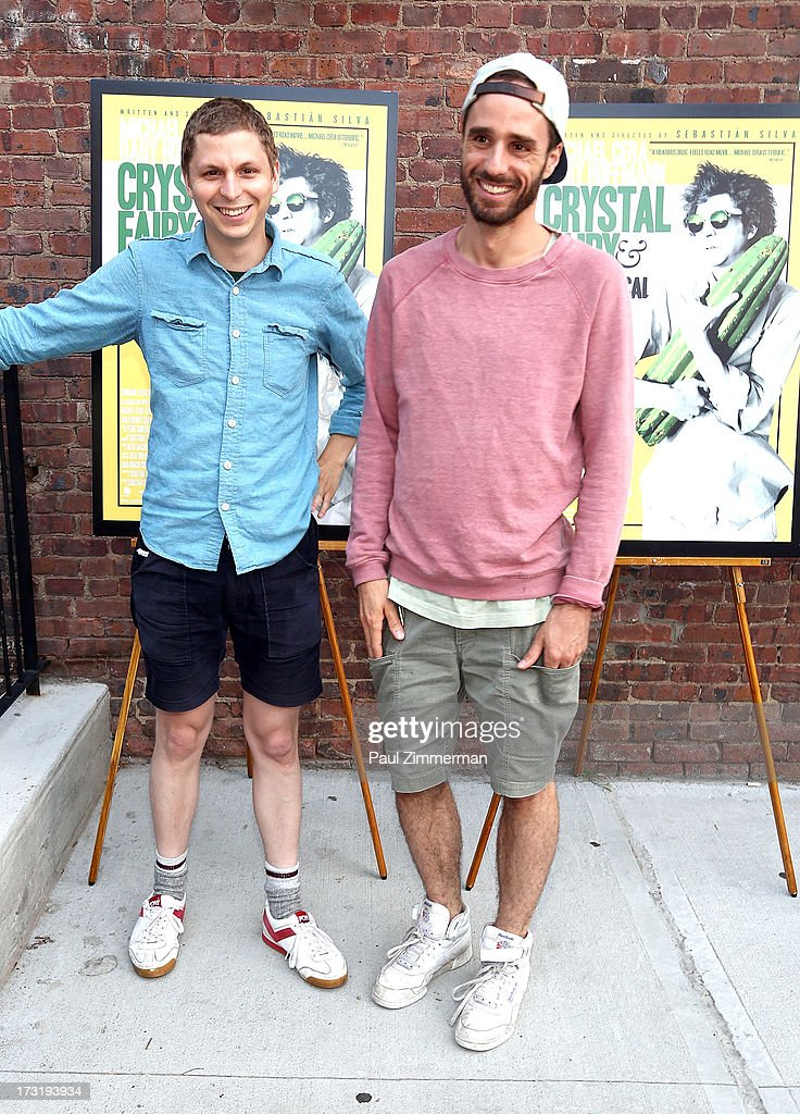 Michael Cera and Sebastian Silva attend the 'The Crystal Fairy' New York Screening at Wythe Hotel on July 9, 2013 in the Brooklyn borough of New York City.