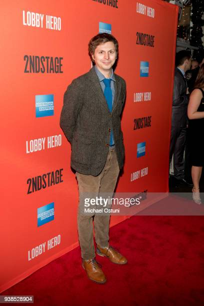 Michael Cera attends Lobby Hero Broadway Opening Night after party at Bryant Park Grill on March 26 2018 in New York City