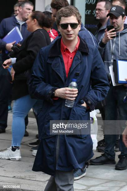 Michael Cera seen at Magic Radio whilst promoting Arrested Development on May 24 2018 in London England