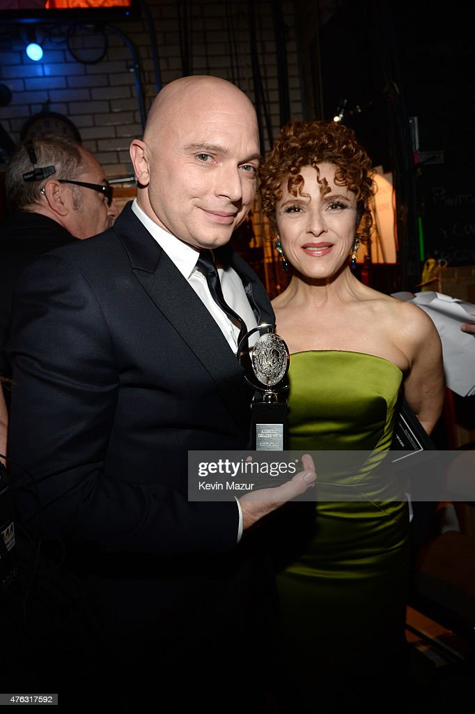 Michael Cerveris and Bernadette Peters attend the 2015 Tony Awards at Radio City Music Hall on June 7, 2015 in New York City.