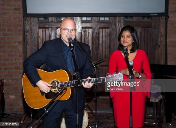 Michael Cerveris and Preetha perform during Shanti Bhavan's 20 Anniversary Gala on November 9 2017 in New York City