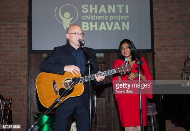 Michael Cerveris and Preetha perform during Shanti Bhavan's 20 Anniversary Gala on November 9 2017 in New York City