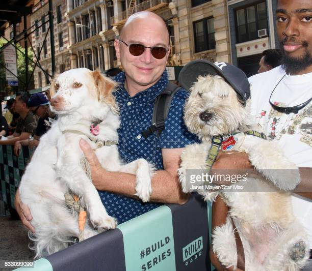 Michael Cerveris and 'Shaggy' The Dog are seen on August 15 2017 in New York City