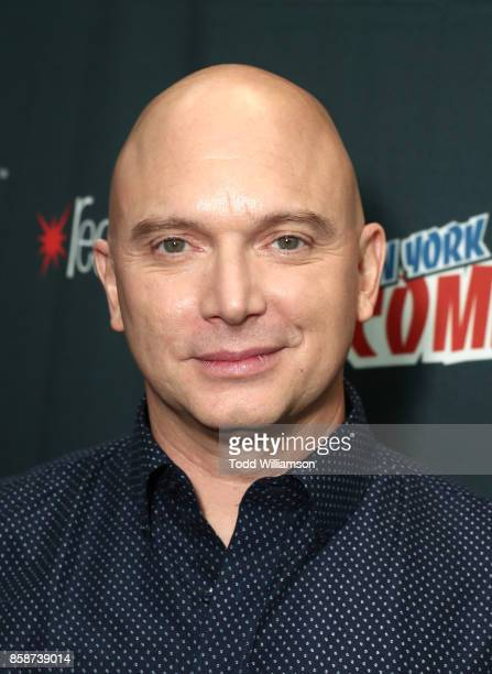 Michael Cerveris attends Amazon Prime Video's The Tick New York Comic Con 2017 Press Room at The Jacob K Javits Convention Center on October 7 2017...
