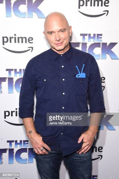 Michael Cerveris attends 'The Tick' Blue Carpet Premiere at Village East Cinema on August 16 2017 in New York City