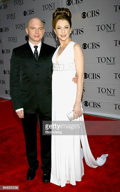 """Michael Cerveris, left and co-star Donna Murphy, both of the show """"LoveMusik,"""" arrive for the 61st Annual American Theatre Wing's Tony Awards at..."""