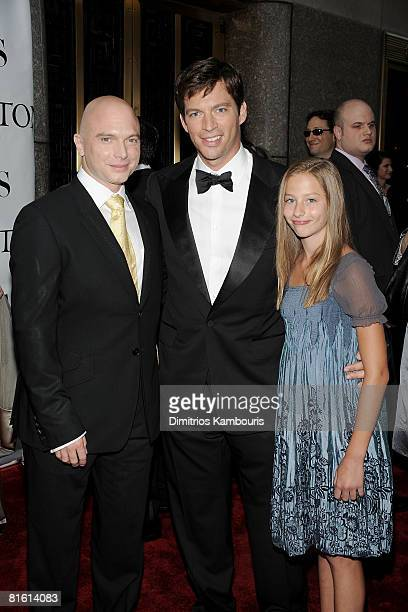 Michael Cerveris musician Harry Connick Jr and daughter Georgia Connick attend the 62nd Annual Tony Awards at Radio City Music Hall on June 15 2008...