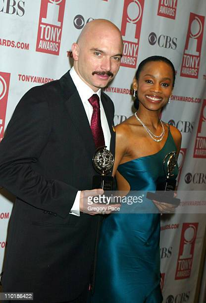 Michael Cerveris winner Best Featured Actor in a Musical for Assassins and Anika Noni Rose winner of the Best Featured Actress in a Musical for...