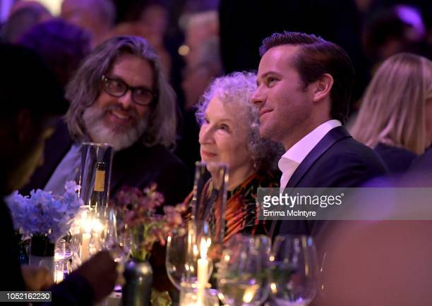 Michael Chabon Margaret Atwood and Armie Hammer attend the Hammer Museum 16th Annual Gala in the Garden with generous support from South Coast Plaza...